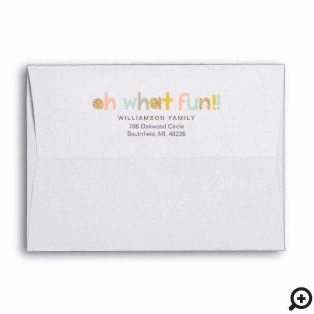 Jingle All The Way | Cheery Trendy typographic Envelope