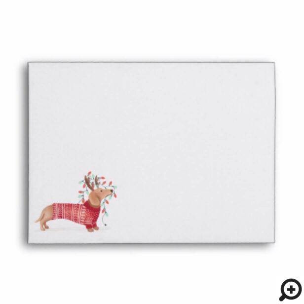 Merry Christmas | Dachshund Dog Christmas Sweater Envelope