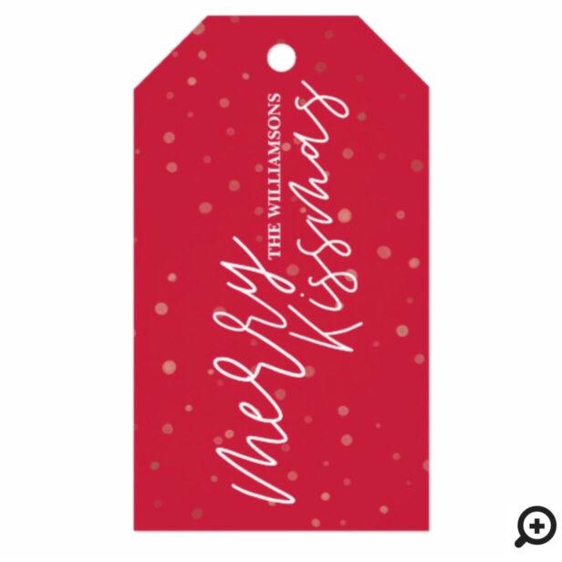 Merry Kissmas | Red & White Stripe Christmas Gift Tags