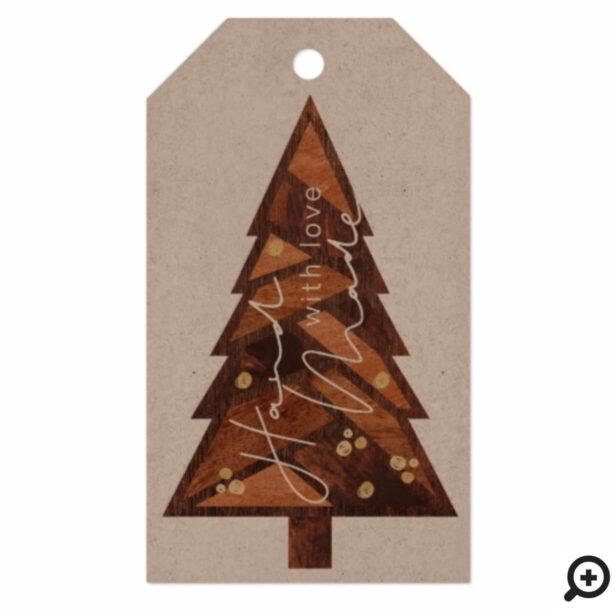 Handmade With Love | Geometric Wood Christmas Tree Gift Tags