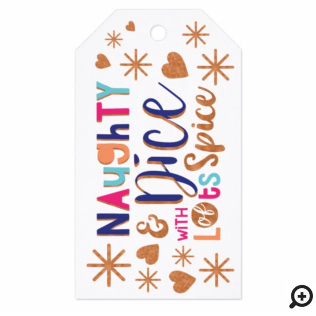 Naughty & Nice | Cheery Colourful & Fun Typography Gift Tags