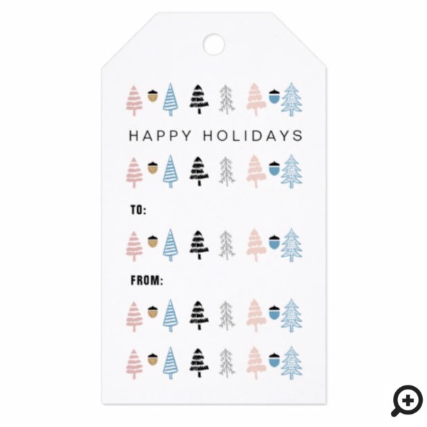 Modern Festive Christmas Tree To & From Holiday Gift Tags