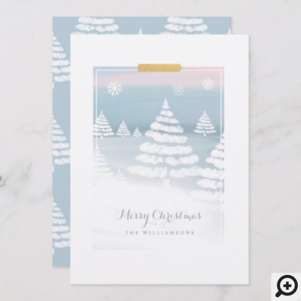 Baby It's Cold Outside Winter Day Christmas Scene Holiday Card