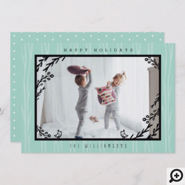 Festive Holiday Forest Rabbit Family Holiday Photo