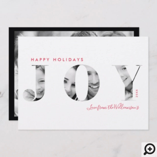 Modern Minimal Joy Holiday Christmas Photo Card