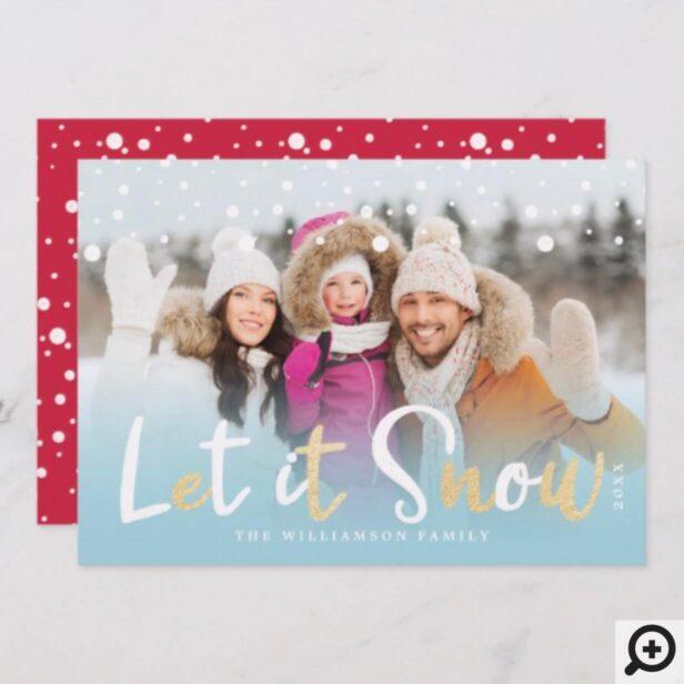 Let it Snow   Reindeer, Polar Bear, Penguin & Fox Holiday Card