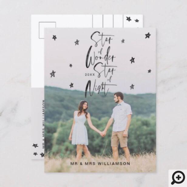 Star of Wonder Star of Night | Mr & Mr Photo Holiday Postcard
