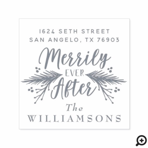 Merrily Ever After | Christmas Foliage Nelyweds Self-inking Stamp