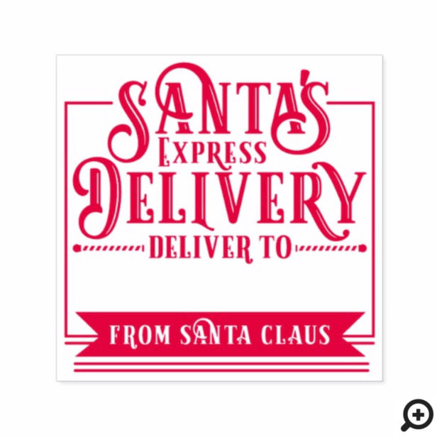 Santa's Express Delivery From Santa Christmas Self-inking Stamp