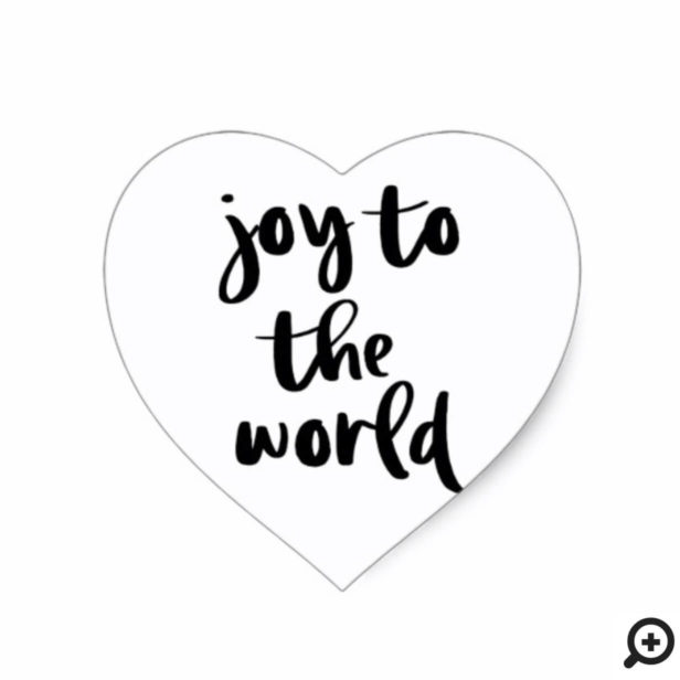 Joy To The Word | Bold Modern Minimalistic Holiday Heart Sticker