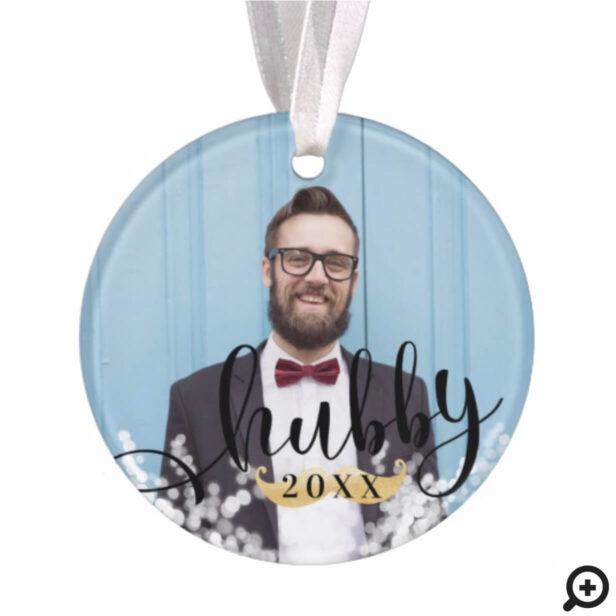 Hubby | Newlyweds Mr & Mrs Stylish Multiple Photos Ornament
