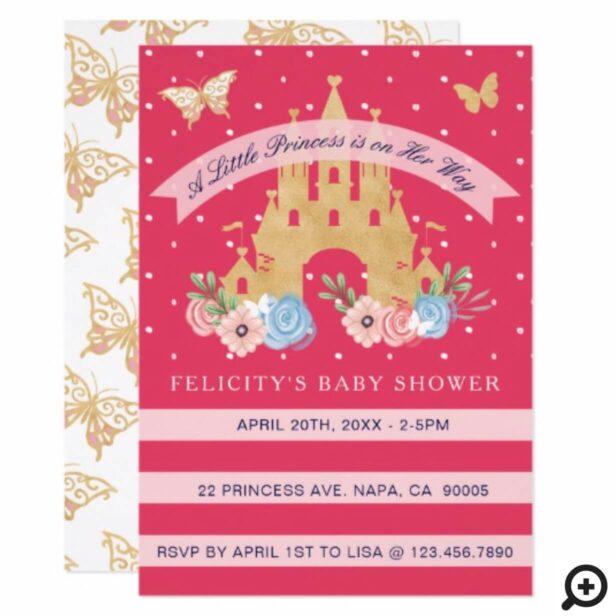 Little Princess Castle Baby Girl Shower Invitation