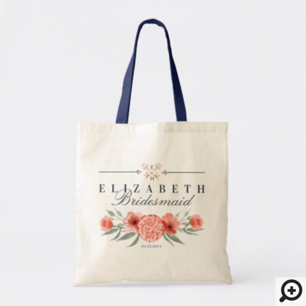 Personalized Wedding Tote - Botanicals & Floral