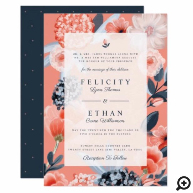 Watercolour Botanical Floral Wedding Invitation
