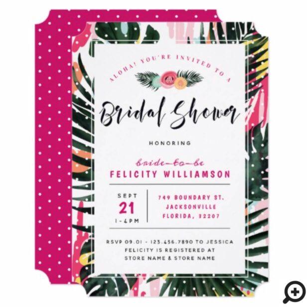 Aloha Tropical Hawaiian Palm Bridal Shower Card