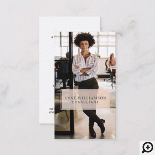 Minimal & Professional Business Photo Business Card