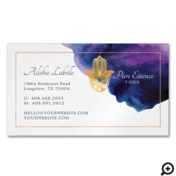 Henna Hamsa Wellness Holistic Decorative Hand Business Card Magnet