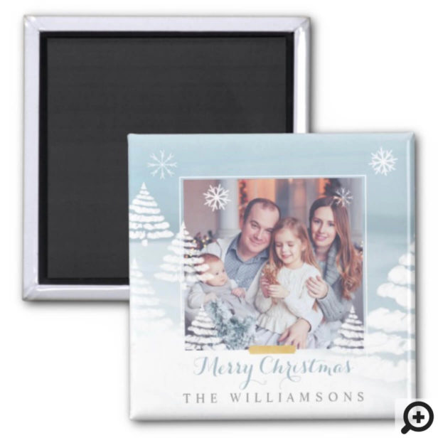 Baby It's Cold Outside Winter Day Christmas Photo Magnet