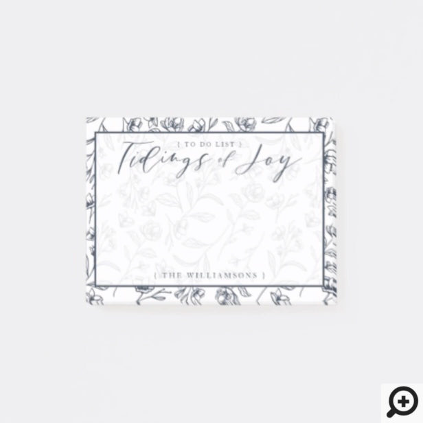 Tidings of Joy | Elegant Winter Foliage flower Post-it Notes