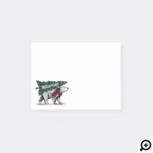 Merry Christmas Polar Bear Tree Delivery Family Post-it Notes