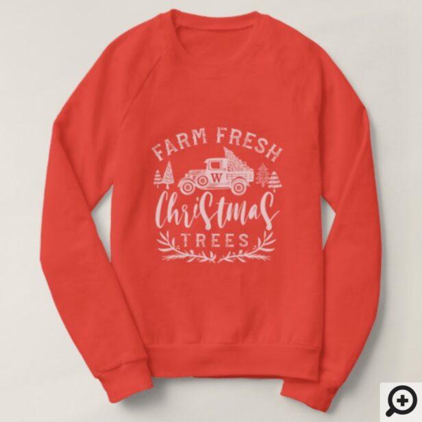 Farm Fresh Vintage Truck Christmas Tree Delivery Sweatshirt