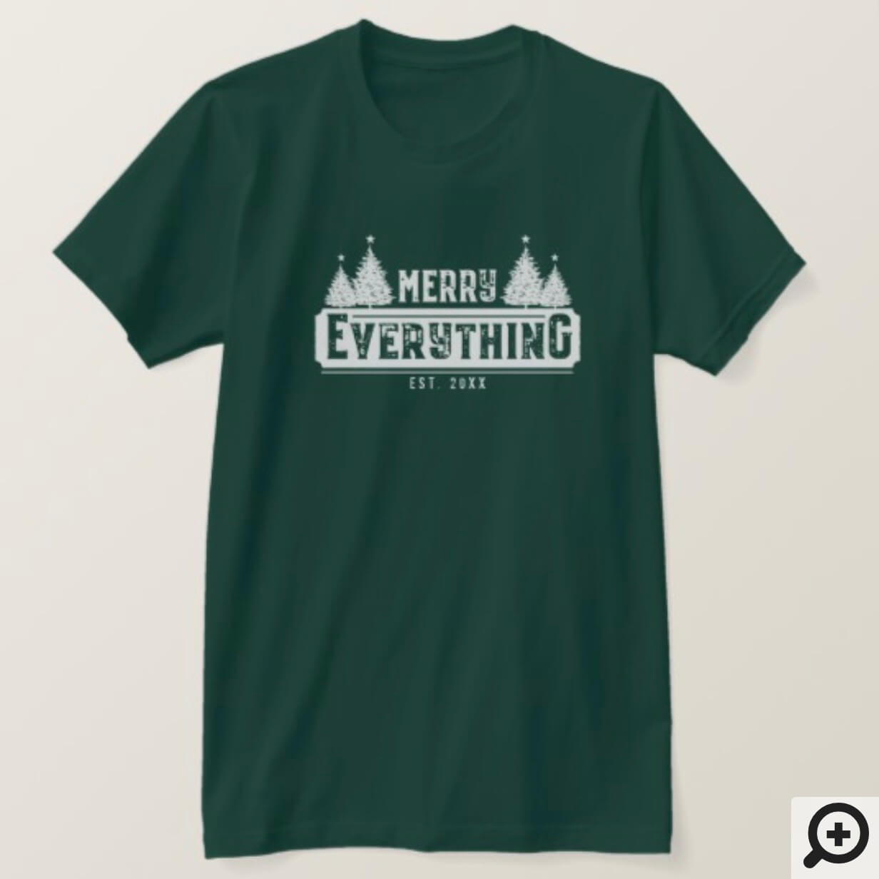 Merry Everything | White Vintage Christmas Tree T-Shirt