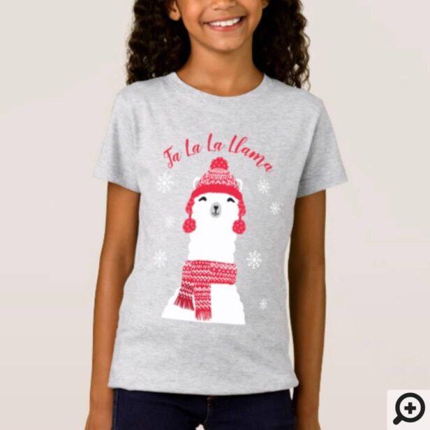 Fa La La Llama | Cozy Warm Winter Llama Christmas T-Shirt
