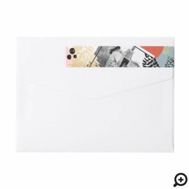 Modern Artistic | Minimalistic Pine Cone Photo Wrap Around Label