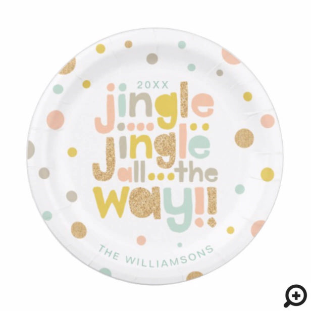 Jingle All The Way | Cheery, Trendy Polka Dots Paper Plate