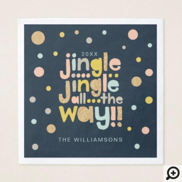 Jingle All The Way | Cheery, Trendy Polka Dots Napkin