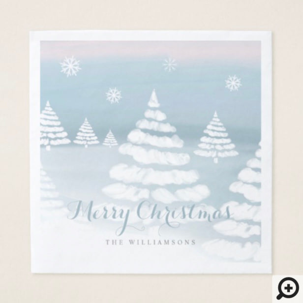 Baby It's Cold Outside Winter Day Christmas Scene Napkin