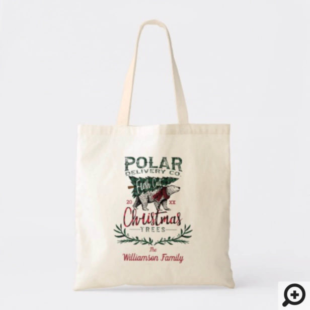 Polar Delivery Co Fresh Cut Christmas Trees Family Tote Bag