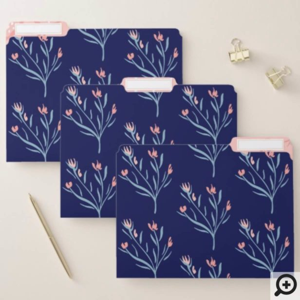 Beautiful Elegant Floral Ornate Branch Pattern File Folder