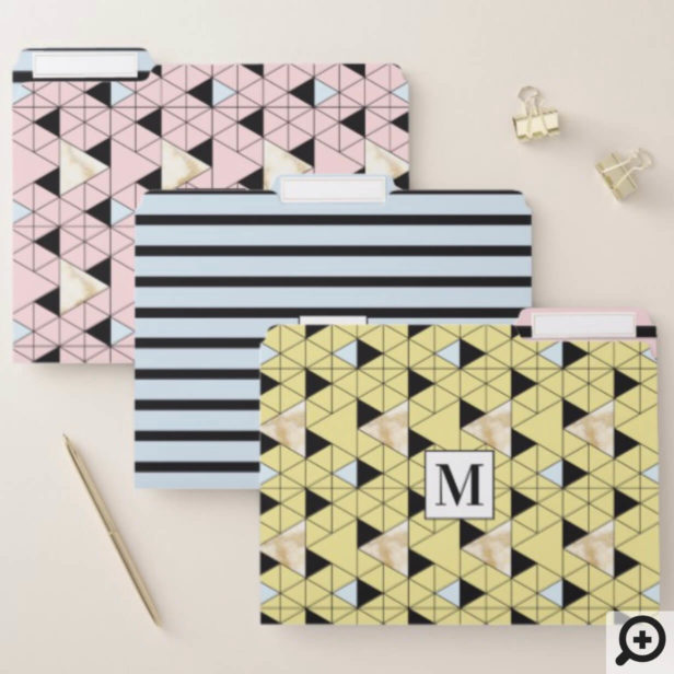 Bold, Modern, Trendy, Retro, geometrical pattern File Folder
