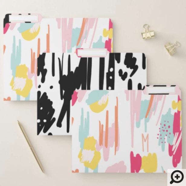 Bold Modern Trendy Abstract & Artistic Stroke File Folder
