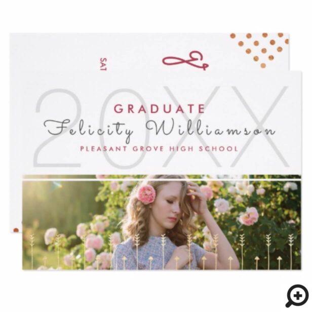 Chic Boho Arrow Modern Graduation Invitation