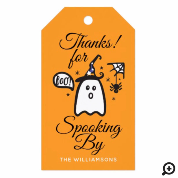 Thank You | Orange Spooky Boo Ghost Halloween Gift Tags