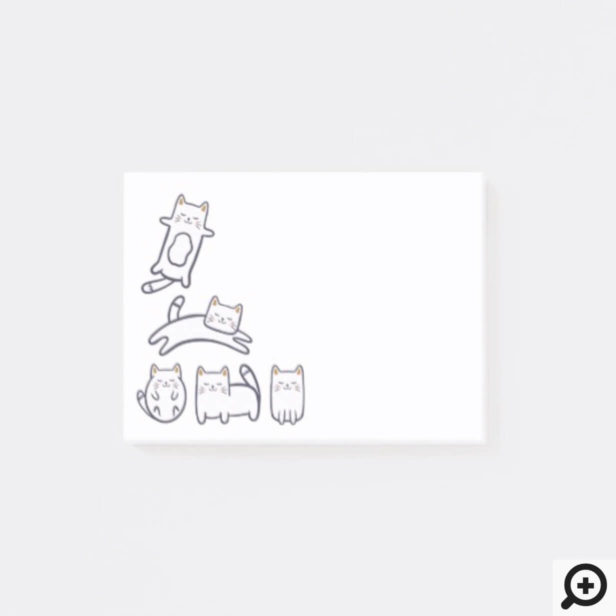 Sweet Adorable Little Kitty Kitten Illustration Post-it Notes