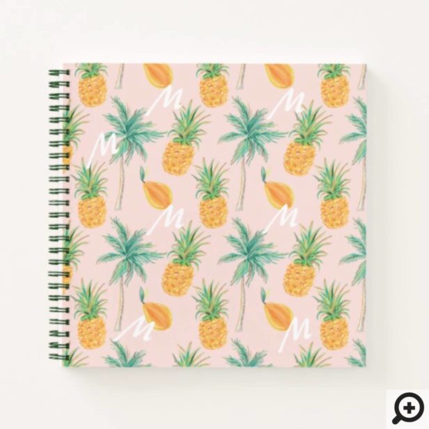 Live Love Laugh | Trendy Topical Island Pineapple Notebook