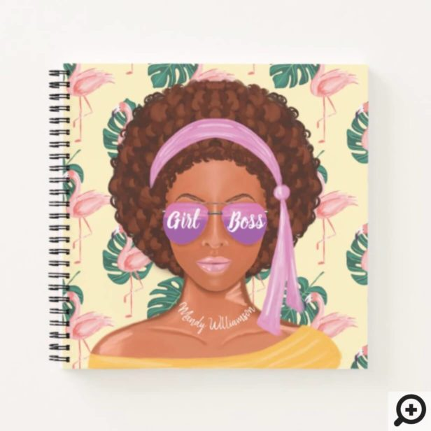 Girl Boss | African American Tropical Beauty Notebook
