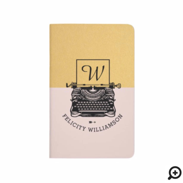 Modern Vintage Antique Typewriter Monogram Journal