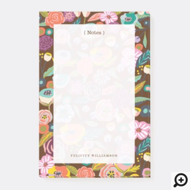 Vibrant Abstract Floral & Foliage Botanical Garden Post-it Notes