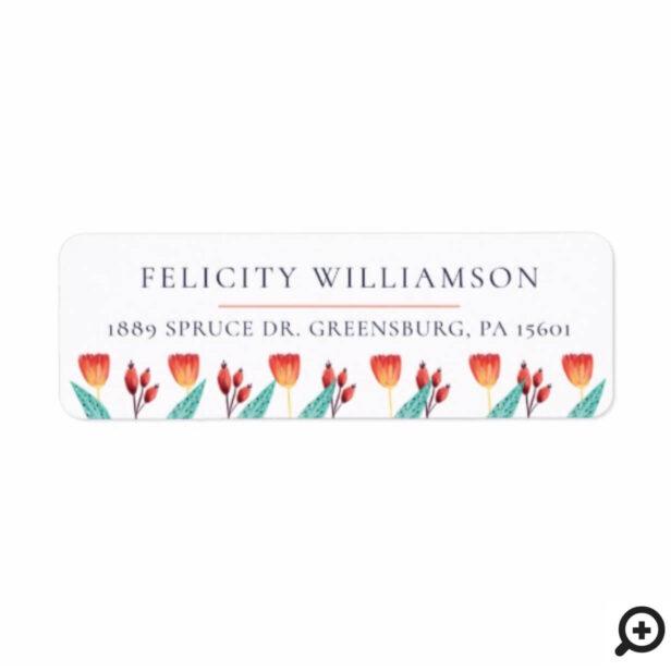 Beautiful Chic Wildflower & Berries Flower Garden Label