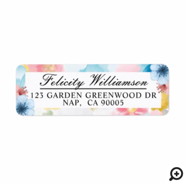Classy Abstract Florals & Modern Watercolor Garden Label