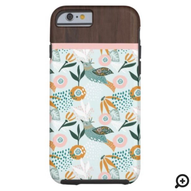 Bohemian Bird With Chic Floral Botanical Patterns Case-Mate iPhone Case