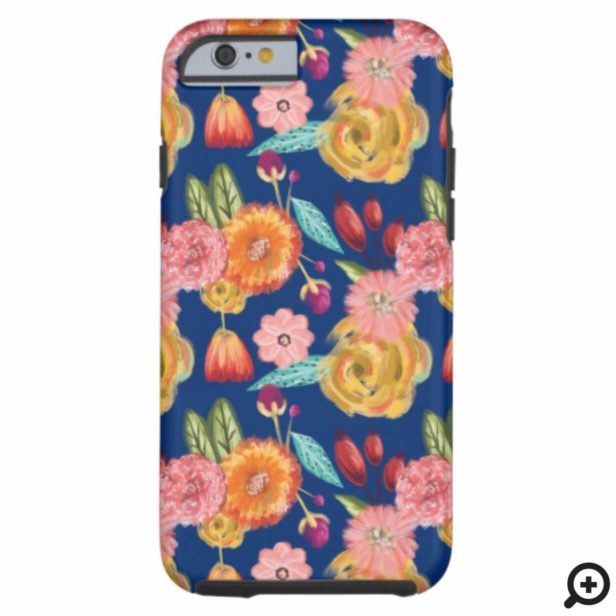 Beautiful Vibrant Wildflower Botanical Pattern Case-Mate iPhone Case