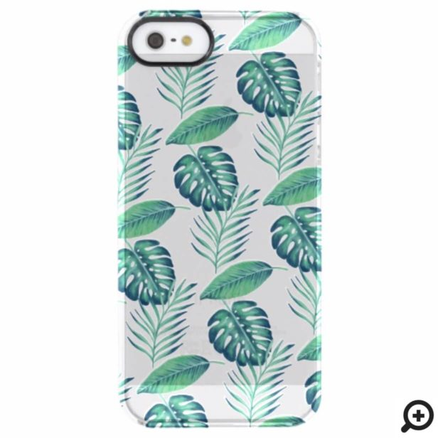Tropical Oasis Watercolor Palm Leaf & Foliage Uncommon iPhone Case