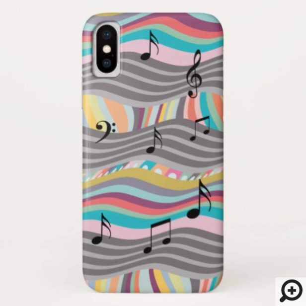 Colourful, Bold Abstract Piano Sheet Music Design Case-Mate iPhone Case
