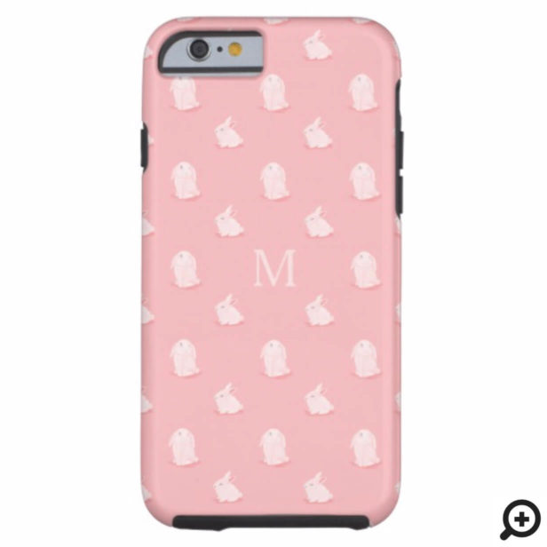 Cute Adorable Watercolor Bunny Rabbit Pattern Case-Mate iPhone Case