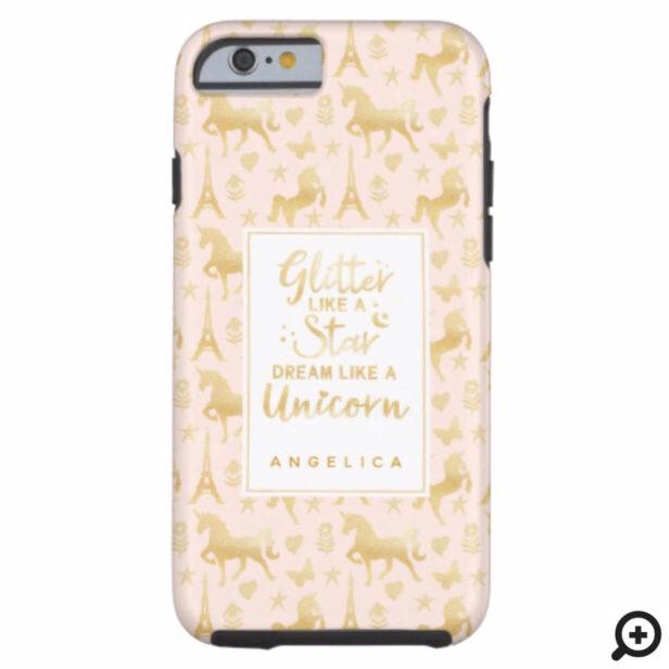 Glitter Like A Star Dream Like A Unicorn Case-Mate iPhone Case